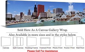 "Sears Tower American Landmark Chicago Illinois-16 Canvas Wrap 48"" x 16"""
