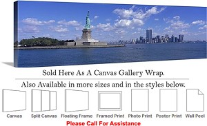 "Statue of Liberty an American Landmark New York-18 Canvas Wrap 48"" x 15"""