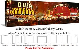 "Las Vegas The Strip American Landmark in Nevada-37 Canvas Wrap 48"" x 16"""