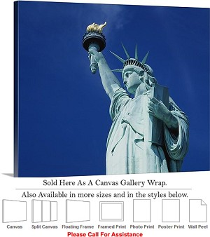 "Statue of Liberty an American Landmark New York-15 Canvas Wrap 30"" x 23"""