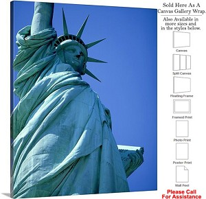 "Statue of Liberty an American Landmark New York-40 Canvas Wrap 19"" x 24"""