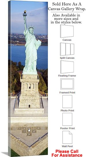 "Statue of Liberty an American Landmark New York-32 Canvas Wrap 14"" x 48"""