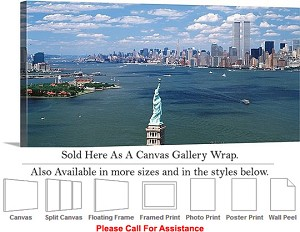 "Statue of Liberty an American Landmark New York-6 Canvas Wrap 36"" x 16"""