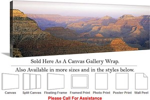 "Grand Canyon National Park in Arizona Landscape-32 Canvas Wrap 48"" x 16"""
