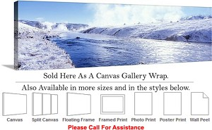 "Yellowstone National Park American Landmark WY-21 Canvas Wrap 48"" x 16"""