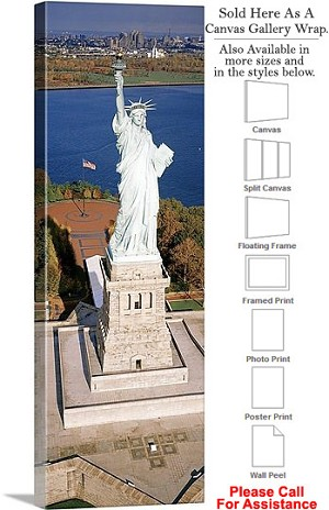"Statue of Liberty an American Landmark New York-27 Canvas Wrap 16"" x 48"""