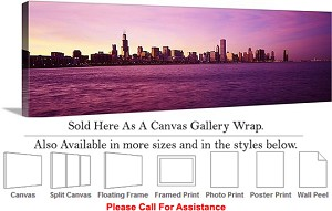 "Sears Tower American Landmark Chicago Illinois-47 Canvas Wrap 48"" x 15"""