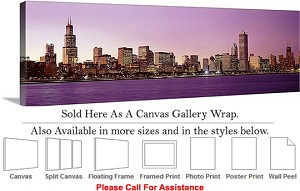 "Sears Tower American Landmark Chicago Illinois-14 Canvas Wrap 48"" x 15"""