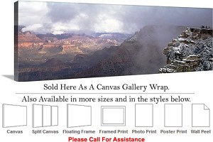 "Grand Canyon National Park in Arizona Landscape-40 Canvas Wrap 48"" x 16"""