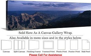 "Grand Canyon National Park in Arizona Landscape-94 Canvas Wrap 48"" x 16"""