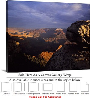 "Grand Canyon National Park in Arizona Landscape-77 Canvas Wrap 24"" x 19"""