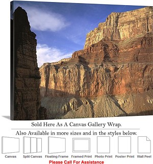 "Grand Canyon National Park in Arizona Landscape-34 Canvas Wrap 30"" x 23"""
