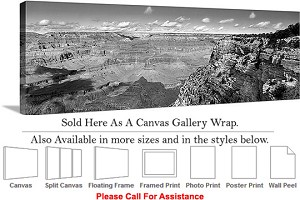 "Grand Canyon National Park in Arizona Landscape-38 Canvas Wrap 48"" x 16"""