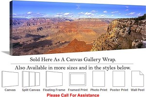 "Grand Canyon National Park in Arizona Landscape-5 Canvas Wrap 48"" x 16"""