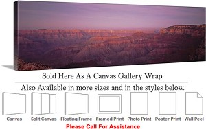 "Grand Canyon National Park in Arizona Landscape-74 Canvas Wrap 48"" x 16"""