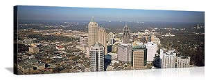 High angle view of buildings in Atlanta Georgia Panoramic Picture
