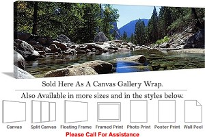 "Yosemite National Park an American Landmark CA-9 Canvas Wrap 48"" x 16"""