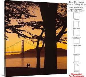 "Golden Gate Bridge at San Francisco California-45 Canvas Wrap 18"" x 20"""