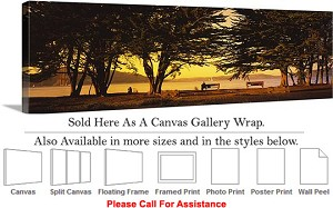 "Golden Gate Bridge at San Francisco California-120 Canvas Wrap 48"" x 16"""
