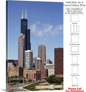 "Sears Tower American Landmark Chicago Illinois-32 Canvas Wrap 20"" x 30"""