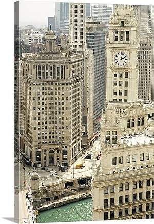 Chicago, Illinois Wrigley Building Panorama Picture