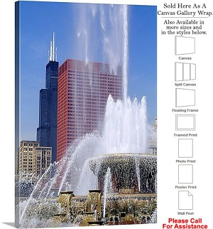"Sears Tower American Landmark Chicago Illinois-15 Canvas Wrap 20"" x 30"""