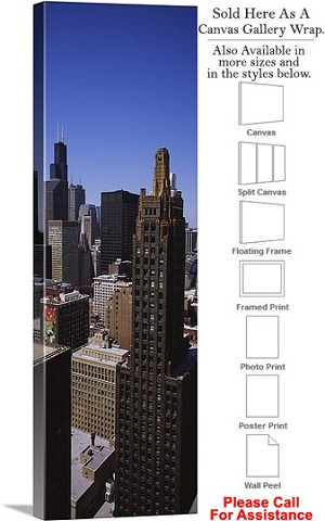 "Sears Tower American Landmark Chicago Illinois-67 Canvas Wrap 17"" x 48"""