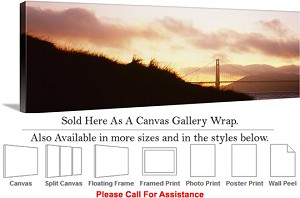 "Golden Gate Bridge at San Francisco California-145 Canvas Wrap 48"" x 17"""