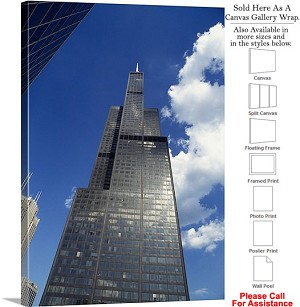 "Sears Tower American Landmark Chicago Illinois-51 Canvas Wrap 23"" x 30"""