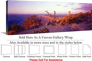 "Grand Canyon National Park in Arizona Landscape-20 Canvas Wrap 48"" x 16"""