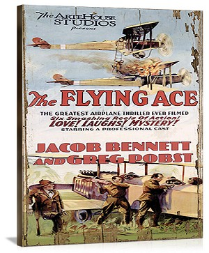 The Flying Ace Movie Vintage Printed On Canvas