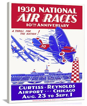 1930 National Air Race Aviation Vintage Printed On Canvas