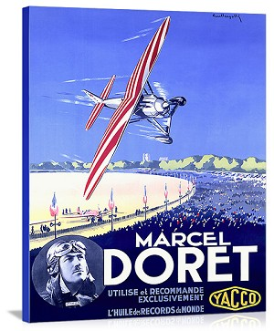 Marcel Doret Aviation Expo Vintage Printed On Canvas
