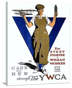 For Every Fighter a Woman Worker Poster on Canvas