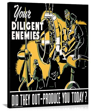 Your Diligent Enemies Production Vintage Printed On Canvas