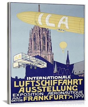 German Airship Dirigible Show Vintage Printed On Canvas