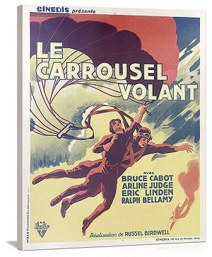 Le Carrousel Volant Vintage Printed On Canvas