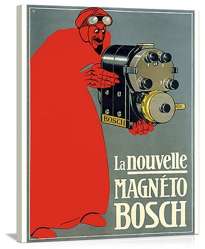 Bosch Aviation Magneto Vintage Printed On Canvas