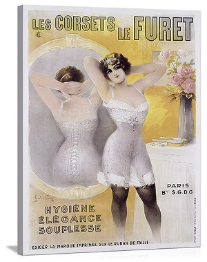 Corsets le Furet Vintage Printed On Canvas