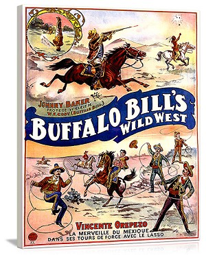 Buffalo Bills Wild West with Jonny Baker Vintage Printed On Canvas