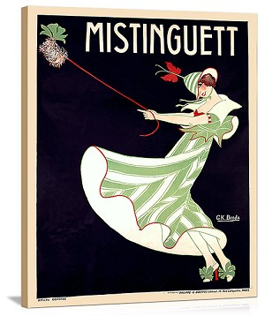 Mistinguett Vintage Printed On Canvas