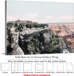 "Grand Canyon Park American Landmark in Arizona-11 Canvas Wrap 30"" x 23"""