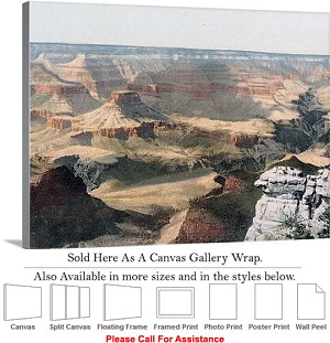 "Grand Canyon Park American Landmark in Arizona-10 Canvas Wrap 30"" x 23"""