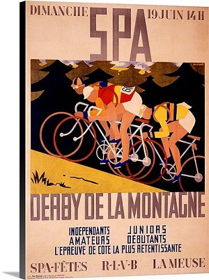 Derby de la Montagne Vintage Printed On Canvas