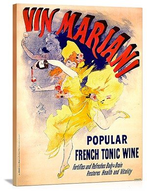 Vin Mariani popular french tonic wine Vintage Printed On Canvas