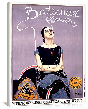 Batschari Cigarettes Vintage Printed On Canvas