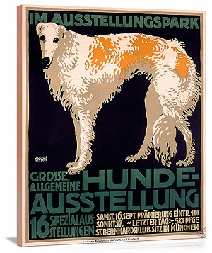 Hunde Ausstellung Vintage Printed On Canvas