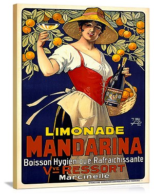 Limonade Mandarina Vintage Printed On Canvas