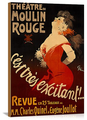 Theatre du Moulin Rouge Vintage Printed On Canvas