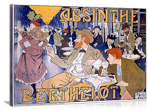 Absinthe Berthelot Vintage Printed On Canvas